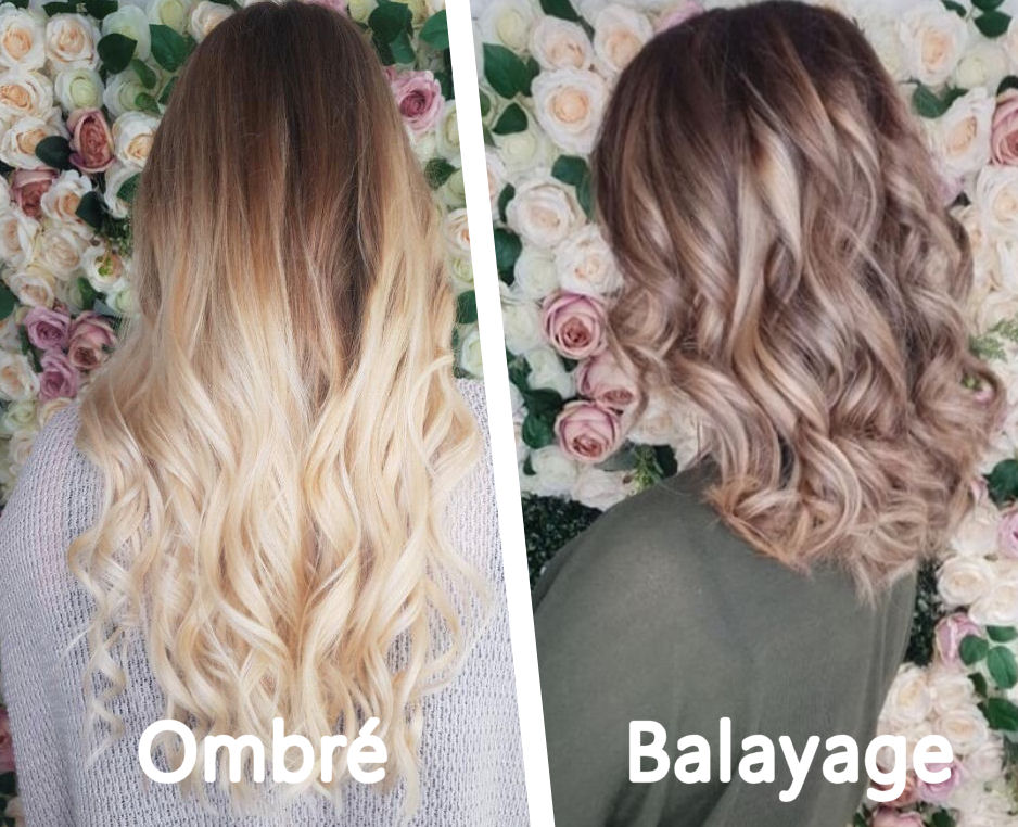 What's the difference between a Balayage & Ombre?